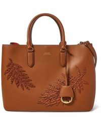 Lauren by Ralph Lauren - Leaf-applique Satchel - Lyst