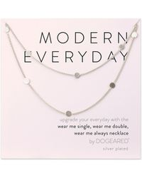 Dogeared - Modern Everyday Multi Circle Long Layering Necklace - Lyst