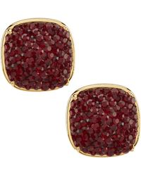 Kate Spade - Gold-tone Pavé Square Stud Earrings - Lyst