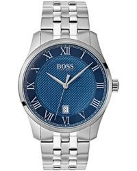 BOSS - Boss The Boss Watches Master Collection Stainless Steel Watch - Lyst