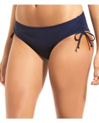 Cremieux - Laced Up Solid Loop Side Hipster Swimsuit Bottom - Lyst