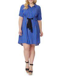 REBEL WILSON X ANGELS - Plus Size Tie Waist Shirt Dress - Lyst