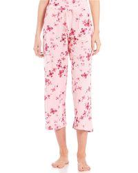 Hue - Tique Social Butterfly-print Knit Capri Sleep Pants - Lyst