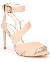 6f7a64ea04c Gianni Bini - Adeena Nubuck Asymmetrical Dress Sandals - Lyst