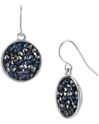 Kenneth Cole - Faceted Disc Drop Earrings - Lyst