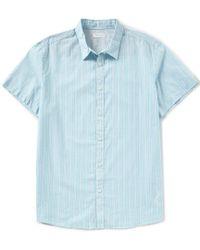 CALVIN KLEIN 205W39NYC - Uneven Stripe Yarn-dye Short-sleeve Woven Shirt - Lyst