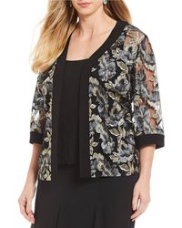 Alex Evenings - Plus Size 3/4 Sleeve Embroidered Twinset - Lyst
