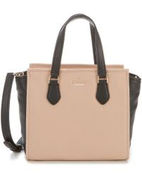 Kate Spade - Jackson Street Small Hayden Colorblock Pebbled Leather Satchel - Lyst