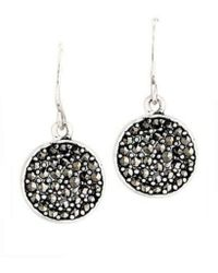Kenneth Cole Marcasite Paddle Earrings