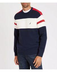 Nautica - Challenger Crewneck Stripe Sweater - Lyst