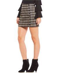 Sugarlips - Menswear Plaid Button-front Mini Skirt - Lyst