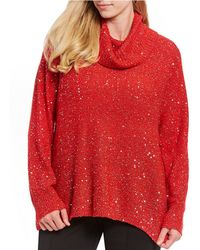 9ff0e067c65d3 Ruby Rd. - Plus Size Cowl Neck Sequin Stretch Sweater Pullover - Lyst