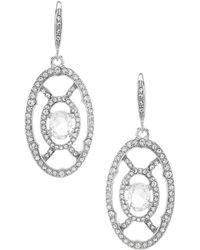 Jenny Packham - Crystal Pave Openwork Drop Earrings - Lyst