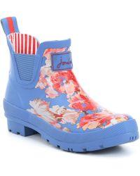 f84d1c5bb16 TOMS Blue Raindrop Print Women s Cabrilla Rain Boots in Blue - Lyst