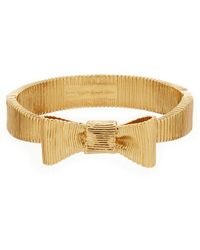 Kate Spade   All Wrapped Up Bow Bangle Bracelet   Lyst