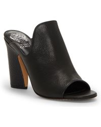 Vince Camuto - Gerty Leather Block Heel High Vamp Mules - Lyst