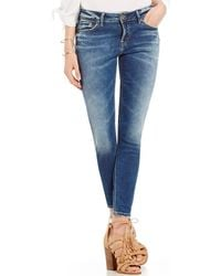 Silver Jeans Co. - Aiko Stretch Denim Ankle Skinny Jeans - Lyst