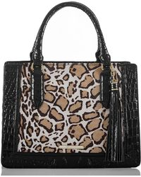 Brahmin - Rowena Collection Small Camille Colorblock Satchel - Lyst