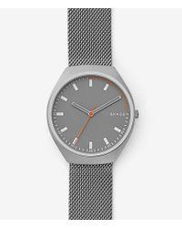 Skagen - Grenen Analog Titanium Mesh Bracelet Watch - Lyst