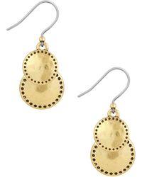 Lucky Brand - Goldtone Double Drop Earrings - Lyst
