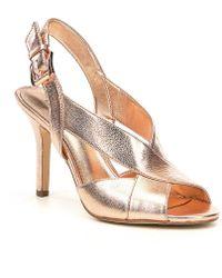 7e7ed976e425 Lyst - Michael Kors Michael Becky Cross Strap Dress Sandals - White ...