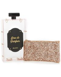 2a557373290 ALDO - Bouck Perfume Bottle Novelty Clutch - Lyst