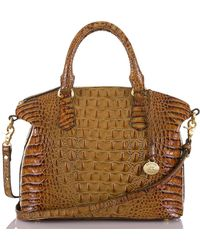 Brahmin - Toasted Almond Collection Duxbury Croco-embossed Dome Satchel - Lyst