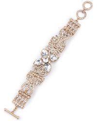 Belle By Badgley Mischka - Fancy Faux-crystal Line Bracelet - Lyst