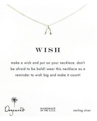 Dogeared - Wishbone Delicate Necklace - Lyst