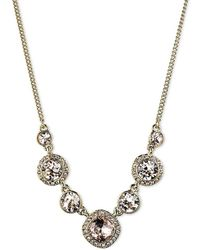 Givenchy   Silk Crystal Frontal Necklace   Lyst