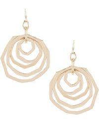 Dillard's - Layered Rings Statement Earrings - Lyst