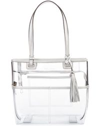 Vince Camuto - Aryna Clear Small Colorblock Tote - Lyst 485227d285