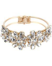 Belle By Badgley Mischka - Faux-crystal Hinge Bracelet - Lyst