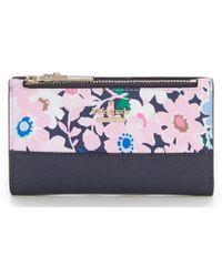 Kate Spade - Cameron Street Daisy Garden Mikey Bifold Colorblock Wallet - Lyst