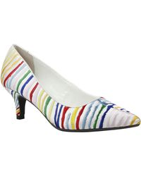 J. Reneé - Zelaina Multi-colored Embroidered Striped Kitten Heel Pumps - Lyst