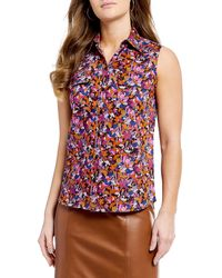 Antonio Melani - Made With Liberty Fabrics Lauren Floral Print Button Down Blouse - Lyst