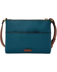 Fossil - Fiona Large Embossed Cross-body Bag - Lyst