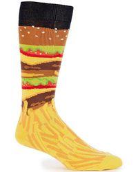 K. Bell - Burger And Fries Crew Socks - Lyst