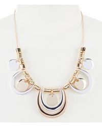 Dillard's - Two Tone Statement Necklace - Lyst