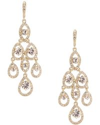 Givenchy - Crystal Chandelier Statement Earrings - Lyst