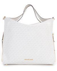 c55aa24dfc3 Tory Burch. Mcgraw Flat Wallet Crossbody (devon Sand 1) Cross Body  Handbags.  298. Zappos · MICHAEL Michael Kors - Devon Large Shoulder Bag -  Lyst