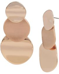 Kenneth Cole Geometric Tiered Circle Linear Earrings