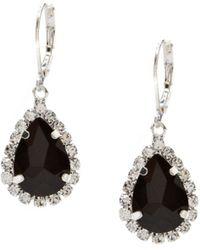 Cezanne - Rhinestone Framed Pear Drop Earrings - Lyst