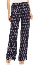 Skies Are Blue - Printed Wide-leg Palazzo Pants - Lyst
