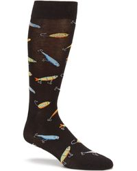K. Bell - Fishing Lures Printed Crew Socks - Lyst