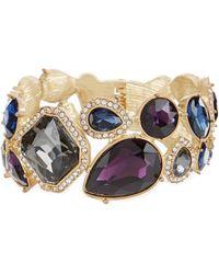 Belle By Badgley Mischka - Tumble Stones Stretch Bracelet - Lyst