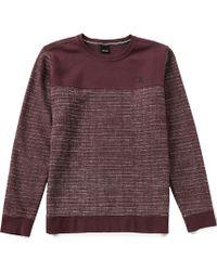 Hurley - Surf Club Lineup Printed Crew Sweatshirt - Lyst