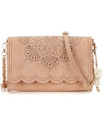 Jessica Simpson | Sunny Studded Perforated Scalloped Clutch | Lyst
