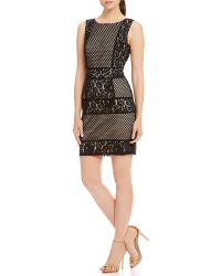 Mystic - X-back Mixed Lace Sheath Dress - Lyst