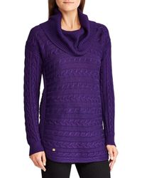 Lauren by Ralph Lauren - Cable Turtleneck Sweater - Lyst